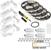 "Task Lighting illumaLED™ Vivid Series 65' Tape Light Quattro Wireless Contractor Kit, 4-Zone, 4-Area, High Light Output, Warm White 2700K, (4) Rolls 197"" Length x 5/16""W x 1/16"" H"
