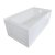 """Valley Acrylic OVO 60"""" W x 30"""" D White Acrylic Bathtub with Front and End Decorative Integral Skirt Right Hand Drain, 60"""" W x 30"""" D x 22"""" H"""
