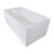 """Valley Acrylic OVO 60"""" W x 32"""" D White Acrylic Bathtub with Front and End Decorative Integral Skirt Left Hand Drain, 60"""" W x 32"""" D x 22"""" H"""