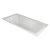 "Valley Acrylic OVO 60"" W x 32"" D Contemporary White Rectangular Acrylic Undermount Bathtub, 57-1/2"" W x 31"" D x 20"" H"