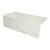 """Valley Acrylic OVO 66"""" W x 30"""" D Biscuit Acrylic Bathtub with Decorative Integral Skirt, Left Hand Drain, 66"""" W x 30"""" D x 20"""" H"""