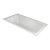 "Valley Acrylic OVO 66"" W x 36"" D Contemporary White Rectangular Acrylic Undermount Bathtub, 63-1/2"" W x 35"" D x 20"" H"