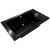 "Valley Acrylic OVO 72"" W x 42"" D Contemporary Black Rectangular Acrylic Drop-In Bathtub with Center Drain, 72"" W x 42"" D x 22"" H"