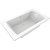 "Valley Acrylic OVO 72"" W x 42"" D Contemporary White Rectangular Acrylic Drop-In Bathtub with Center Drain, 72"" W x 42"" D x 22"" H"