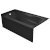 """Valley Acrylic PRO 60"""" W x 30"""" D Black Acrylic Bathtub with Sculpted Interior and Smooth Integral Skirt, Left Hand Drain, 60"""" W x 30"""" D x 20"""" H"""