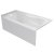 """Valley Acrylic PRO 60"""" W x 30"""" D White Acrylic Bathtub with Sculpted Interior and Smooth Integral Skirt, Left Hand Drain, 60"""" W x 30"""" D x 20"""" H"""