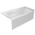 """Valley Acrylic PRO 60"""" W x 30"""" D White Acrylic Bathtub with Sculpted Interior and Smooth Integral Skirt, Right Hand Drain, 60"""" W x 30"""" D x 20"""" H"""