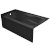 """Valley Acrylic PRO 60"""" W x 32"""" D Black Acrylic Bathtub with Sculpted Interior and Smooth Integral Skirt, Left Hand Drain, 60"""" W x 32"""" D x 20"""" H"""