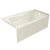 """Valley Acrylic PRO 60"""" W x 32"""" D Biscuit Acrylic Bathtub with Sculpted Interior and Smooth Integral Skirt, Right Hand Drain, 60"""" W x 32"""" D x 20"""" H"""