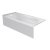 """Valley Acrylic PRO 66"""" W x 30"""" D White Acrylic Bathtub with Sculpted Interior and Smooth Integral Skirt, Left Hand Drain, 66"""" W x 30"""" D x 20"""" H"""