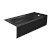 """Valley Acrylic PRO 66"""" W x 30"""" D Black Acrylic Bathtub with Sculpted Interior and Smooth Integral Skirt, Right Hand Drain, 66"""" W x 30"""" D x 20"""" H"""