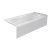 """Valley Acrylic PRO 66"""" W x 30"""" D White Acrylic Bathtub with Sculpted Interior and Smooth Integral Skirt, Right Hand Drain, 66"""" W x 30"""" D x 20"""" H"""