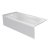 """Valley Acrylic PRO 66"""" W x 32"""" D White Acrylic Bathtub with Sculpted Interior and Smooth Integral Skirt, Left Hand Drain, 66"""" W x 32"""" D x 20"""" H"""