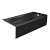 """Valley Acrylic PRO 66"""" W x 32"""" D Black Acrylic Bathtub with Sculpted Interior and Smooth Integral Skirt, Right Hand Drain, 66"""" W x 32"""" D x 20"""" H"""