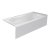 """Valley Acrylic PRO 66"""" W x 32"""" D White Acrylic Bathtub with Sculpted Interior and Smooth Integral Skirt, Right Hand Drain, 66"""" W x 32"""" D x 20"""" H"""