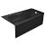 "Valley Acrylic PRO 60"" W x 30"" D Black Acrylic Bathtub with Sculpted Interior and Decorative Integral Skirt, Right Hand Drain, 60"" W x 30"" D x 20"" H"