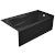 "Valley Acrylic PRO 60"" W x 32"" D Black Acrylic Bathtub with Sculpted Interior and Decorative Integral Skirt, Right Hand Drain, 60"" W x 32"" D x 20"" H"
