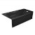 "Valley Acrylic PRO 66"" W x 30"" D Black Acrylic Bathtub with Sculpted Interior and Decorative Integral Skirt, Right Hand Drain, 66"" W x 30"" D x 20"" H"