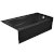 "Valley Acrylic PRO 66"" W x 32"" D Black Acrylic Bathtub with Sculpted Interior and Decorative Integral Skirt, Right Hand Drain, 66"" W x 32"" D x 20"" H"