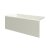 """Valley Acrylic 54"""" W x 30"""" D Biscuit Acrylic Bathtub with Smooth Integral Skirt with Left Hand Drain, 54"""" W x 30"""" D x 22"""" H"""