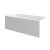 """Valley Acrylic 54"""" W x 30"""" D White Acrylic Bathtub with Smooth Integral Skirt with Left Hand Drain, 54"""" W x 30"""" D x 22"""" H"""
