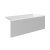 """Valley Acrylic 54"""" W x 30"""" D White Acrylic Bathtub with Smooth Integral Skirt with Right Hand Drain, 54"""" W x 30"""" D x 22"""" H"""