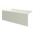 """Valley Acrylic 54"""" W x 32"""" D Biscuit Acrylic Bathtub with Smooth Integral Skirt with Left Hand Drain, 54"""" W x 32"""" D x 22"""" H"""