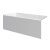 """Valley Acrylic 54"""" W x 32"""" D White Acrylic Bathtub with Smooth Integral Skirt with Left Hand Drain, 54"""" W x 32"""" D x 22"""" H"""