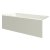 """Valley Acrylic 60"""" W x 30"""" D Biscuit Acrylic Bathtub with Smooth Integral Skirt with Left Hand Drain, 60"""" W x 30"""" D x 22"""" H"""