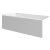 """Valley Acrylic 60"""" W x 30"""" D White Acrylic Bathtub with Smooth Integral Skirt with Left Hand Drain, 60"""" W x 30"""" D x 22"""" H"""