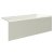 """Valley Acrylic 60"""" W x 30"""" D Biscuit Acrylic Bathtub with Smooth Integral Skirt with Right Hand Drain, 60"""" W x 30"""" D x 22"""" H"""