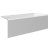"""Valley Acrylic 60"""" W x 30"""" D White Acrylic Bathtub with Smooth Integral Skirt with Right Hand Drain, 60"""" W x 30"""" D x 22"""" H"""