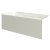 """Valley Acrylic 60"""" W x 32"""" D Biscuit Acrylic Bathtub with Smooth Integral Skirt with Left Hand Drain, 60"""" W x 32"""" D x 22"""" H"""