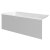 """Valley Acrylic 60"""" W x 32"""" D White Acrylic Bathtub with Smooth Integral Skirt with Left Hand Drain, 60"""" W x 32"""" D x 22"""" H"""
