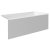 """Valley Acrylic 60"""" W x 32"""" D White Acrylic Bathtub with Smooth Integral Skirt with Right Hand Drain, 60"""" W x 32"""" D x 22"""" H"""
