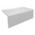 """Valley Acrylic STARK 60"""" W x 30"""" D White Acrylic Contemporary Bathtub with Smooth Integral Skirt Right Hand Drain, 60"""" W x 30"""" D x 22"""" H"""