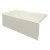 """Valley Acrylic STARK 60"""" W x 32"""" D Biscuit Acrylic Contemporary Bathtub with Smooth Integral Skirt Left Hand Drain, 60"""" W x 32"""" D x 22"""" H"""