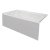 """Valley Acrylic STARK 60"""" W x 32"""" D White Acrylic Contemporary Bathtub with Smooth Integral Skirt Left Hand Drain, 60"""" W x 32"""" D x 22"""" H"""