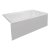 """Valley Acrylic STARK 60"""" W x 32"""" D White Acrylic Contemporary Bathtub with Smooth Integral Skirt Right Hand Drain, 60"""" W x 32"""" D x 22"""" H"""