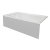 """Valley Acrylic STARK 72"""" W x 30"""" D White Acrylic Contemporary Bathtub with Smooth Integral Skirt Left Hand Drain, 72"""" W x 30"""" D x 22"""" H"""