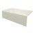 """Valley Acrylic STARK 72"""" W x 32"""" D Biscuit Acrylic Contemporary Bathtub with Smooth Integral Skirt Left Hand Drain, 72"""" W x 32"""" D x 22"""" H"""