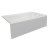 """Valley Acrylic STARK 72"""" W x 32"""" D White Acrylic Contemporary Bathtub with Smooth Integral Skirt Right Hand Drain, 72"""" W x 32"""" D x 22"""" H"""