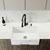 "Vigo Square Front Matte Stone Farmhouse Kitchen Sink, 30"""