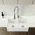 """Vigo Casement Front Matte Stone Double Bowl Farmhouse Kitchen Sink, 33"""""""