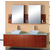 Virtu Clarissa Honey Oak Double Bath Vanity Set with Tempered Glass or Stone Counter Tops