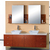 Virtu Clarissa Honey Oak Double Bath Vanity Set with Glass or Stone Counter Tops
