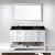 White w/ Black Galaxy Granite & Square Sink -  Front View