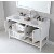 "Virtu USA Winterfell Collection 60"" Freestanding Double Bathroom Vanity Set"