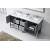 "Virtu USA Winterfell 72"" Double Bathroom Vanity Cabinet Set"