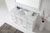 Virtu USA Talisa 60'' Single Sink Bathroom Vanity in White with Italian Carrara White Marble Top and Square Sink with Polished Chrome Faucet and Mirror, 60''W x 23''D x 36''H